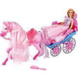 Карета с лошадью и куклой 29 см, Shantou Gepai