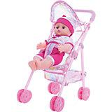 Кукла озвученная 30 см с коляской, Shantou Gepai