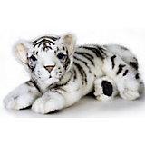 Белый тигренок (лежащий), 26 см