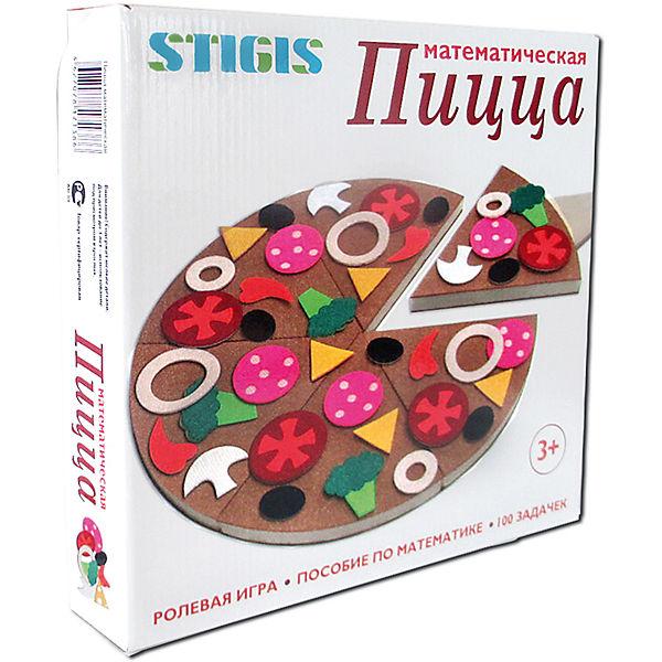 """Игра на липучках """"Пицца математическая"""", Stigis"""