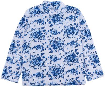 Водолазка для девочки Апрель - синий/белый