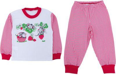 Пижама для девочки Апрель - белый/красный