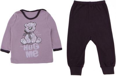 Пижама для девочки Апрель - бежевый/коричневый