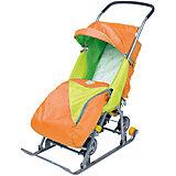 Санки-коляска Тимка 2 Универсальные, оранжевый