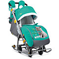 Санки-коляска Ника детям 7-2, Kitty, изумруд
