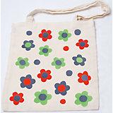 """Стигис-аппликация на эко-сумке """"Цветочки"""""""