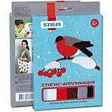 "Стигис-аппликация картинка ""Снегирь"""