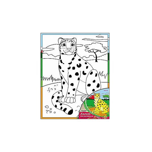 """Холст с красками """"Леопард"""", 20х25 см"""
