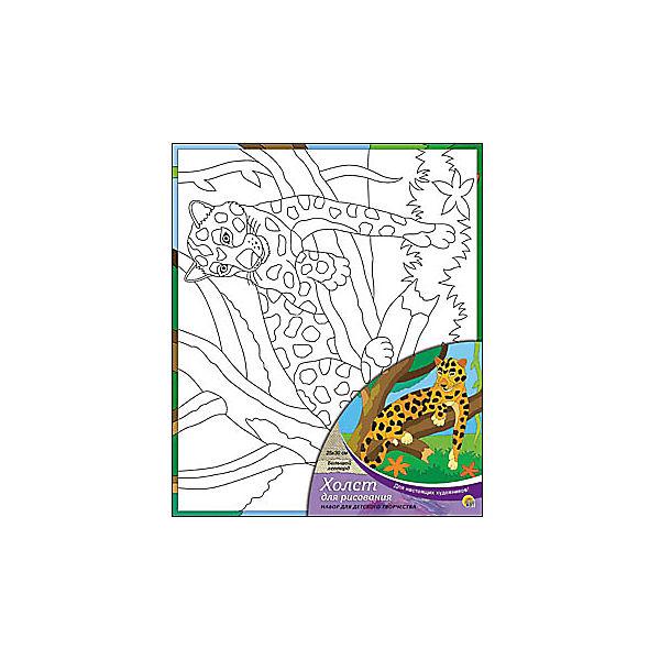 """Холст с красками """"Большой леопард"""", 25х30 см"""