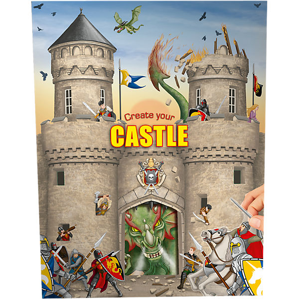 Create your Castle - Malbuch mit Stickern