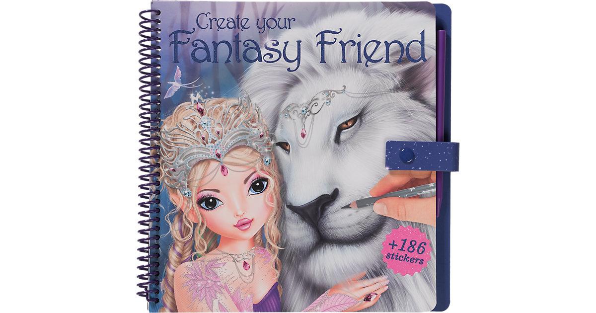 Create your Fantasy Friend - Malbuch mit Rubbelbildern