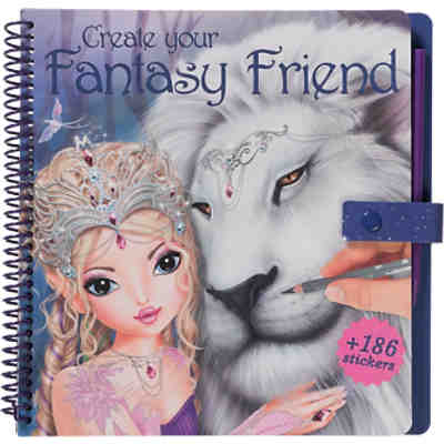 Create your Fantasy Friend - Malbuch mit Rubbelbildern