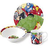 """Набор керамической посуды """"Мстители"""" (3 предмета)"""