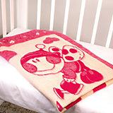 Одеяло байковое Букашки, 100х140, Baby Nice, розовый