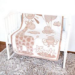 Одеяло байковое Жираф, 100х140, Baby Nice, бежевый