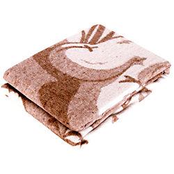 Одеяло байковое Медвежонок, 100х140, Baby Nice, бежевый