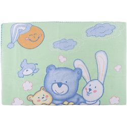 Одеяло байковое Мишка на лужайке, 100х118 2-сторон., Baby Nice, бежевый