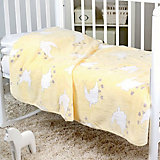 Плед-покрывало Барашки 100х118  Velsoft 2-стороннее оверлок, Baby Nice, желтый