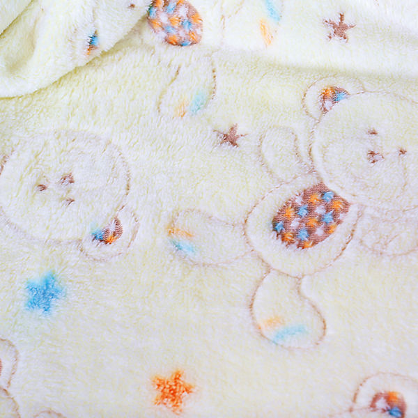 Плед-покрывало Мишки и звезды 75х100 Velsoft 2-стороннее оверлок, Baby Nice