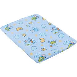 Детский плед Мишки-зайки 100 % полиэстер (флис) 100х140 пл. 200, Baby Nice, голубой