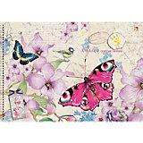"""Альбом для рисования """"Цветы и бабочки"""", 40л"""