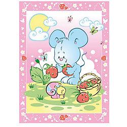 Одеяло байковое Земляничная поляна, 85х115, Baby Nice, розовый