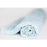Одеяло стеганное Мишки и жирафы, файбер 200, 105х140, Baby Nice, голубой