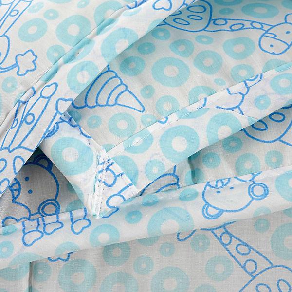 Одеяло стеганное Мишки и жирафы, файбер 300, 105х140, Baby Nice, голубой