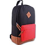 Рюкзак молодежный, черный с красным