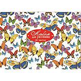 """Альбом для рисования """"Яркие бабочки"""", 40л"""