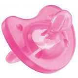 Силиконовая пустышка Physio Soft 0-6мес., CHICCO, розовый