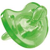 Силиконовая пустышка Physio Soft 0мес.+, CHICCO, зеленый