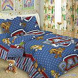 Постельное белье Догги, (50х70), Letto, голубой