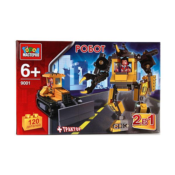 """Конструктор """"2-в-1 робот+трактор"""", 120дет., Город мастеров"""