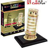 """Пазл 3D """"Пизанская башня с иллюминацией (Италия)"""", CubicFun"""