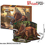 """Пазл 3D """"Эра Динозавров Трицератопс"""", CubicFun"""