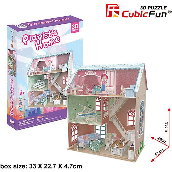 """Пазл 3D """"Дом пианиста"""", CubicFun"""