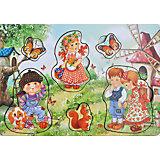 Развивающая рамка-вкладыш  «Дети на природе», Мастер игрушек