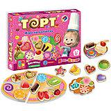 """Игра на магнитах """"Торт"""", Маша и Медведь, Vladi Toys"""