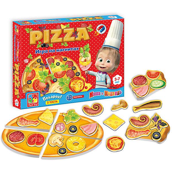 """Игра на магнитах """"Пицца"""", Маша и Медведь, Vladi Toys"""