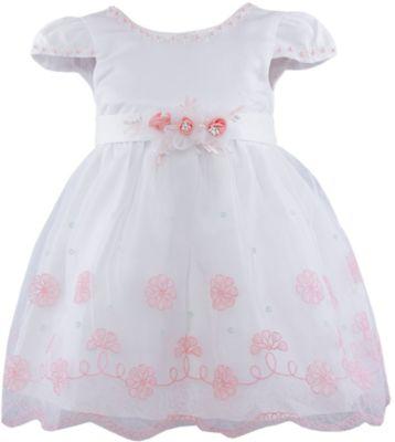 Нарядное платье для девочки Vitacci - белый/коралловый