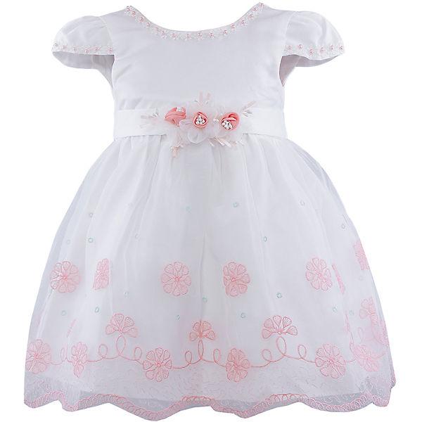 Платье для девочки Vitacci - белый/коралловый