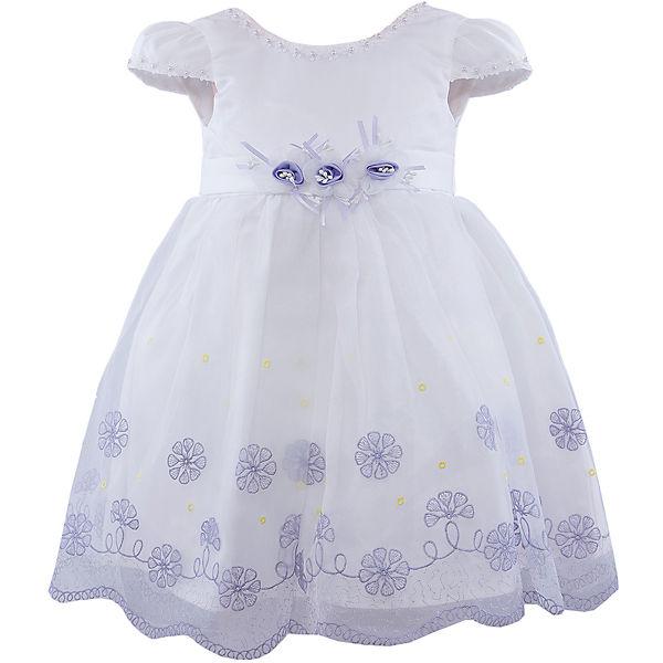 Платье для девочки Vitacci - белый/голубой
