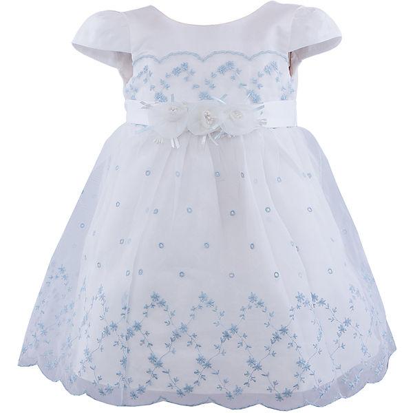 Платье для девочки Vitacci - белый светло-голубой