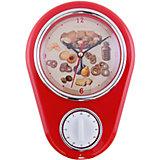 """Кухонные настенные часы """"Печенье"""" с таймером"""
