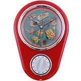 """Кухонные настенные часы """"Ретро-вкусности"""" с таймером"""