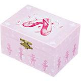 """Музыкальная шкатулка """"Пуанты"""" Ballerina Shoes, Trousselier, pink"""