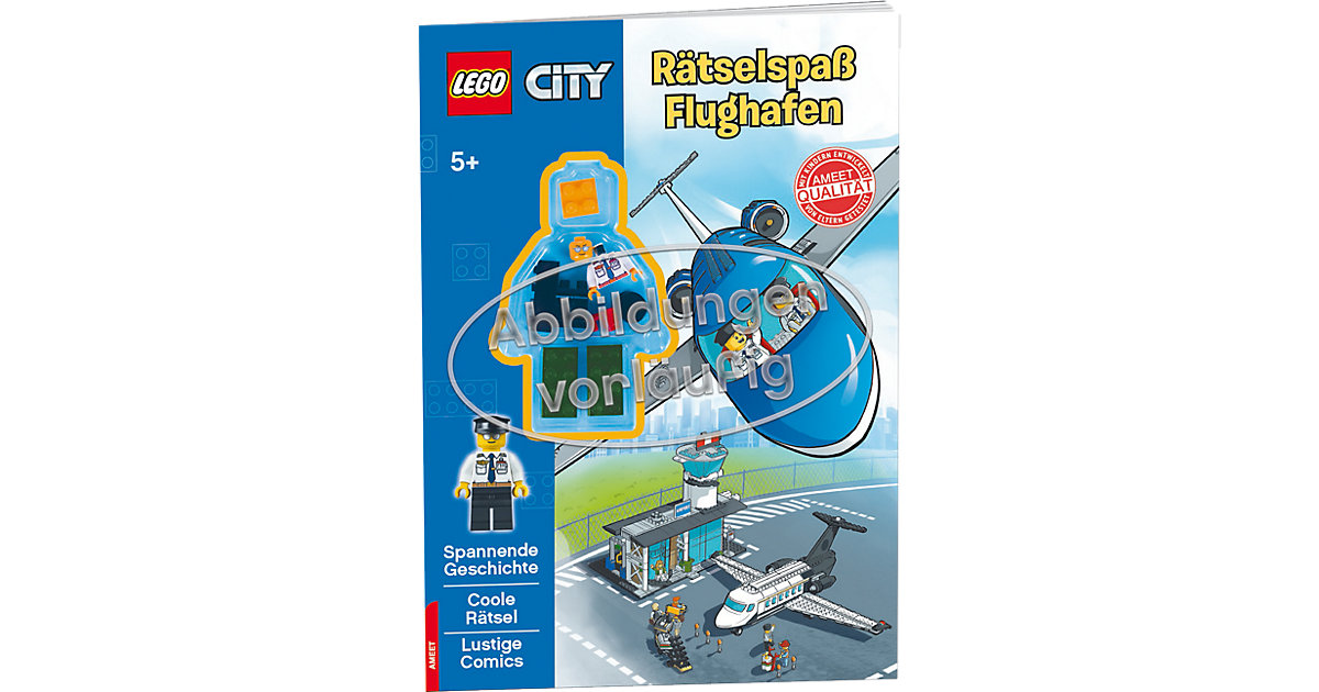Buch - LEGO City - Rätselspaß Flughafen, mit Lego-Figur