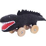 """Мягкая игрушка """"Крокодил на колесиках"""", черный, 16см , Trousselier"""