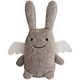 Мягкая игрушка Зайка с крылышками и погремушкой, серый, 12см , Trousselier
